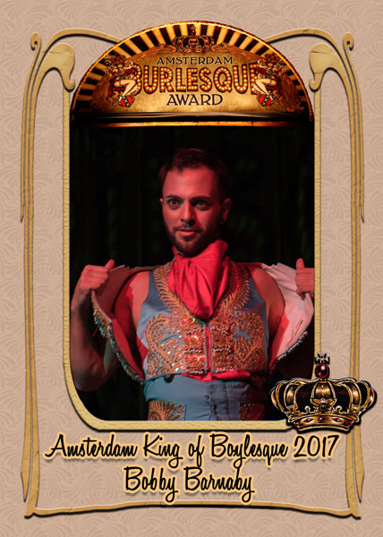 Bobby Barnaby from the USA, Amsterdam King of Boylesque 2017