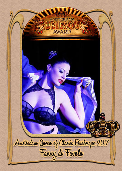 Fanny di Favola from Germany, Amsterdam Queen of Classic Burlesque 2017