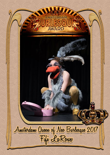 Fifi LaRoux from Ireland, Amsterdam Queen of Neo Burlesque 2017